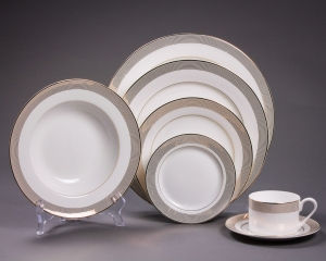 Gold Lines Dinnerware