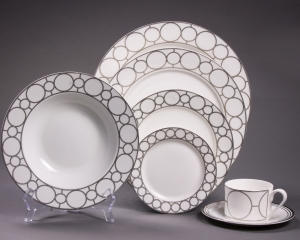 Silver Rings Dinnerware