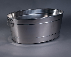 Stainless Steel Oval Ice Container
