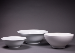 Assorted White Round Bowls 12