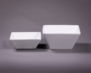 White Square Bowls Assorted