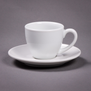 Polar White Demitasse Cup and Saucer