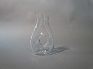 Glass Water Jug with Hole 44oz