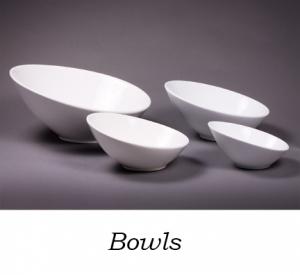 White Slanted Bowls, 7