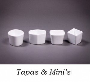 Tapas Dishes in Assorted Shapes