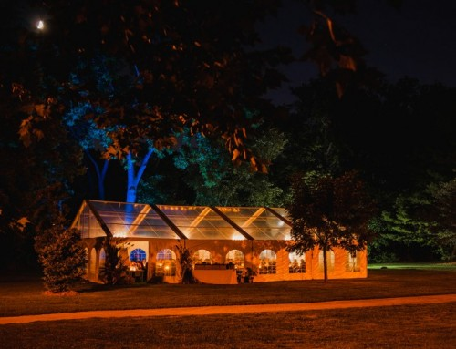 An Event in a Tent Dinner in Gairloch Gardens
