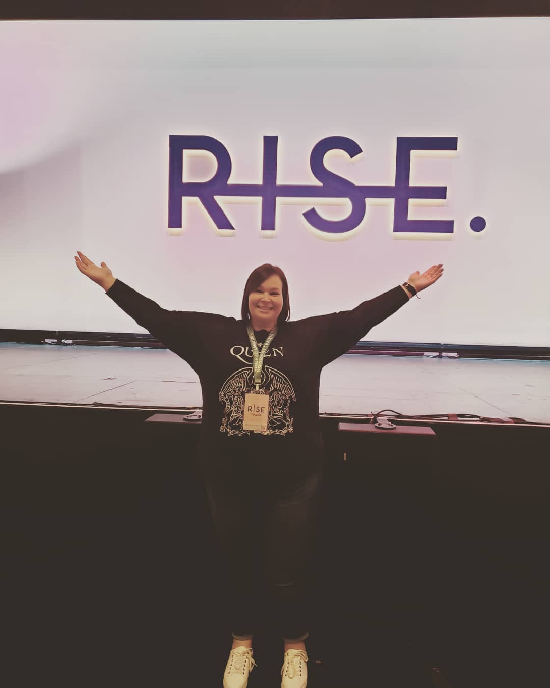 Michelle shares knowledge from the Rise Conference